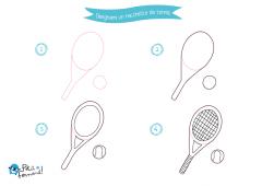 come disegnare una racchetta da tennis