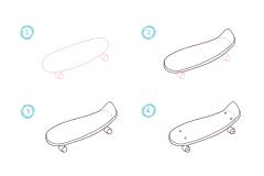 come disegnare uno skate