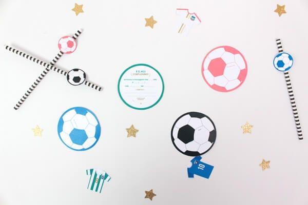 Un kit per un compleanno a tema calcio