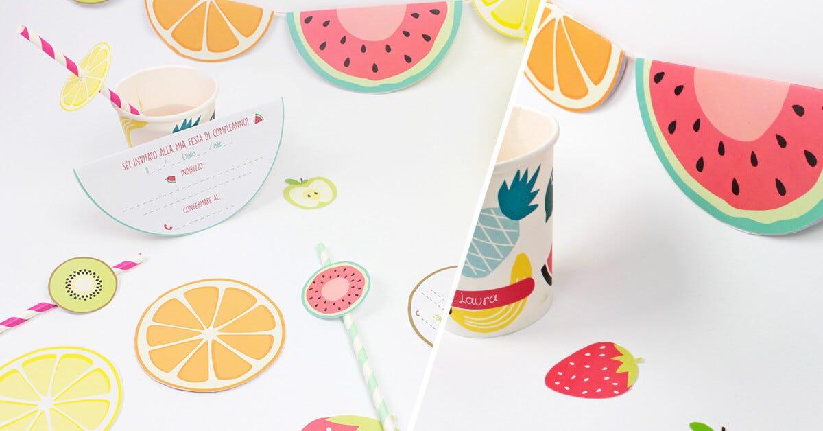 Laboratorio per realizzare inviti di compleanno a forma di frutta!