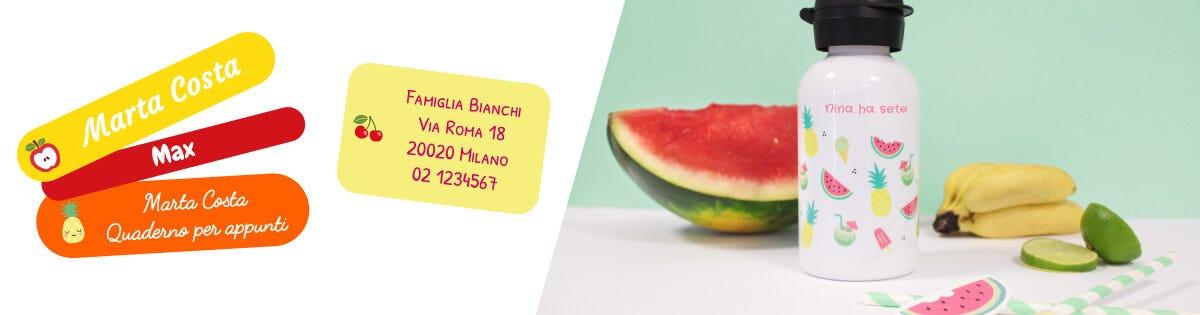 Prodotti a tema estate e frutta di stagione