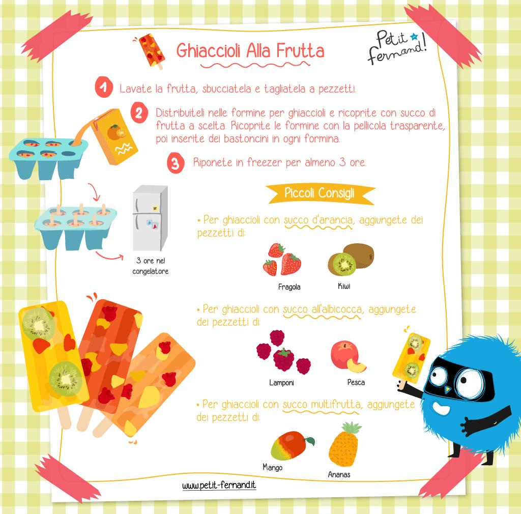 Ricetta facile per preparare ghiaccioli alla frutta