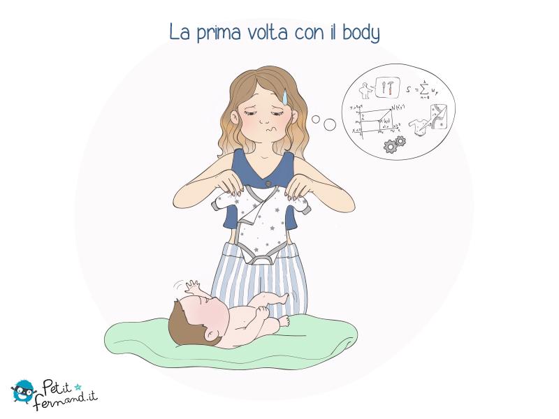 La prima volta che devi mettere il body a tuo figlio!