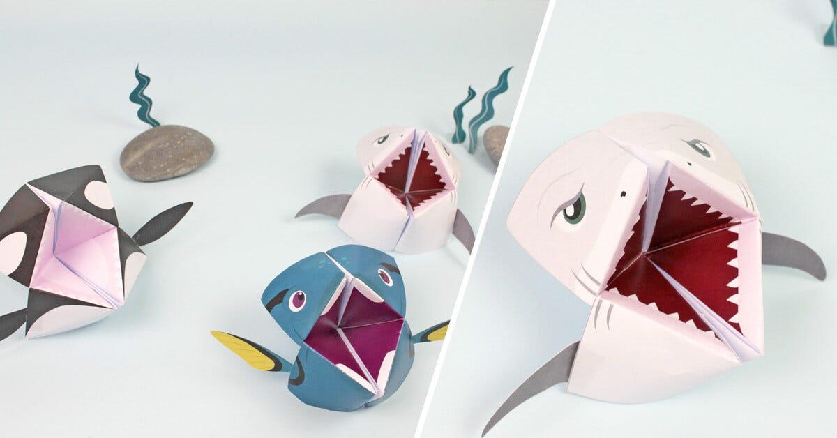 Un origami indovino a forma di pesce, da realizzare in pochi minuti!