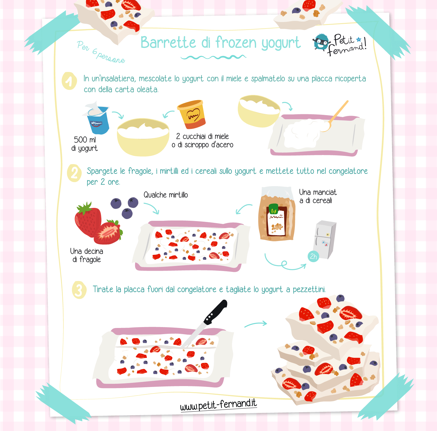 Barrette di Frozen Yogurt