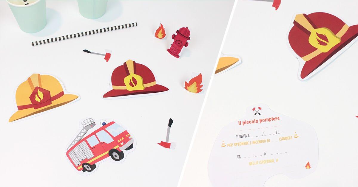 Inviti a tema pompieri