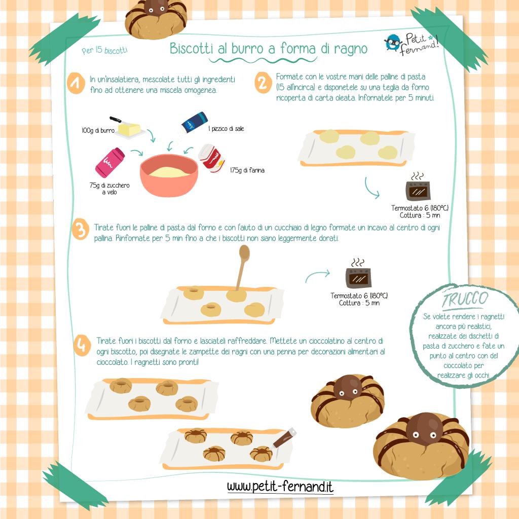 Cookies a forma di ragno