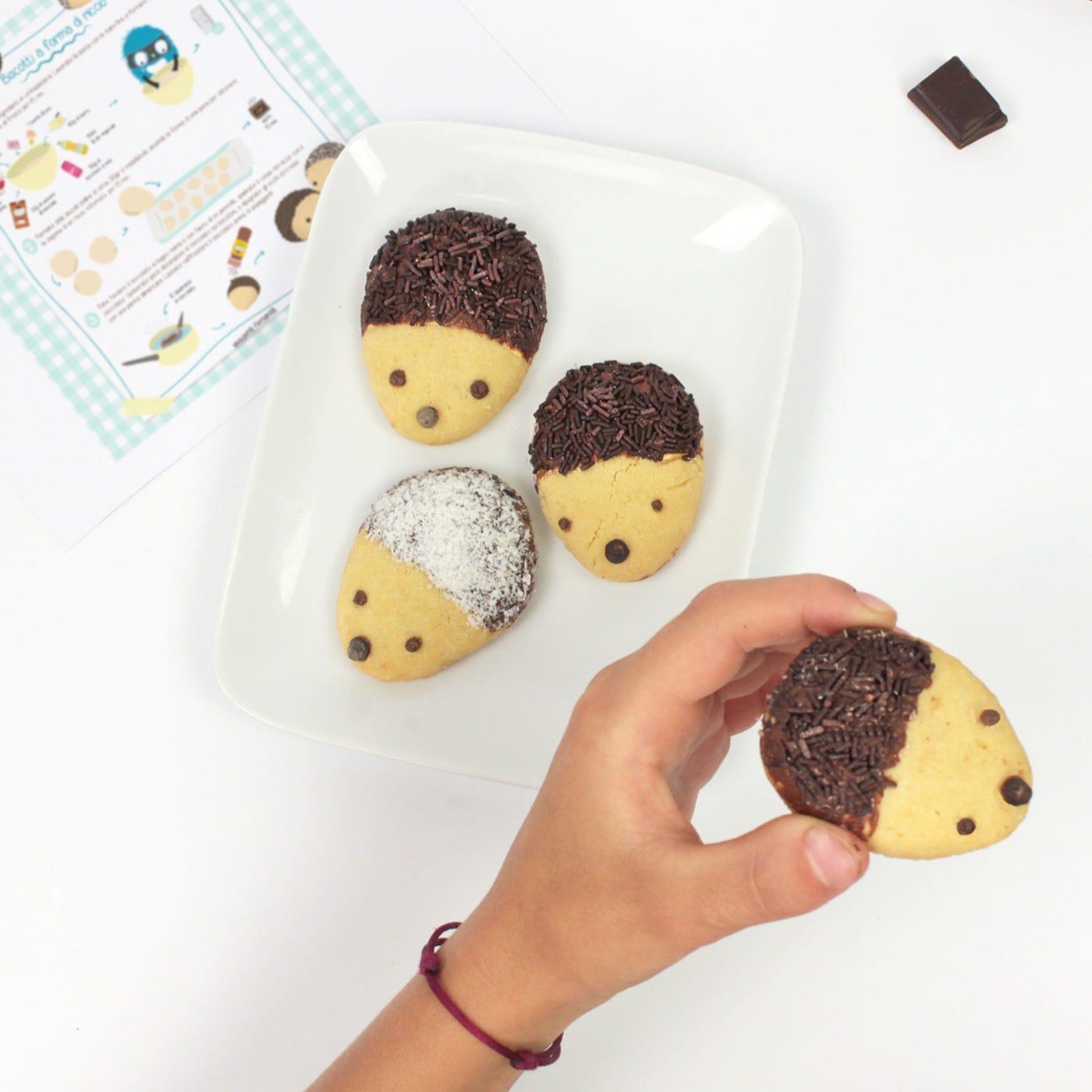La nostra ricetta di biscotti a forma di riccio