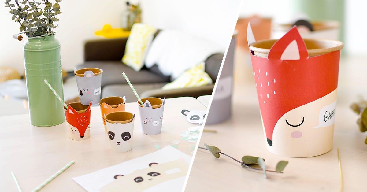 Ecco un tocco stiloso per dei simpatici bicchieri di compleanno!