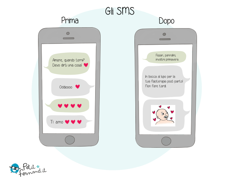 Apparentemente anche gli sms sono destinati a cambiare nella vita di un genitore!