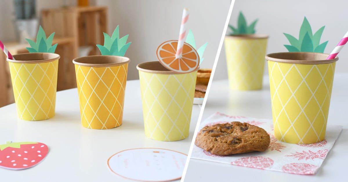 Bicchieri a forma di ananas