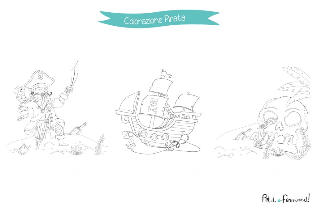 all'arrembaggio! Scaricate gratuitamente dei disegni da colorare a tema pirati per divertirvi con assieme ai vostri piccoli!