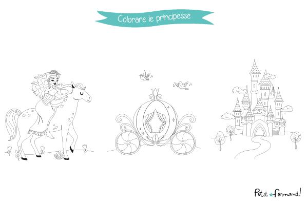 I disegni da colorare delle principesse