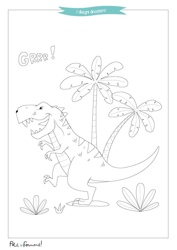 Disegni Da Colorare I Dinosauri Petit Fernand It