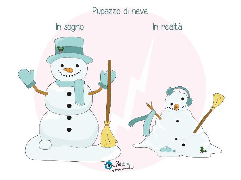Quando nevica, spesso i bambini sono super contenti di realizzare dei pupazzi di neve, qualunque sia il risultato…