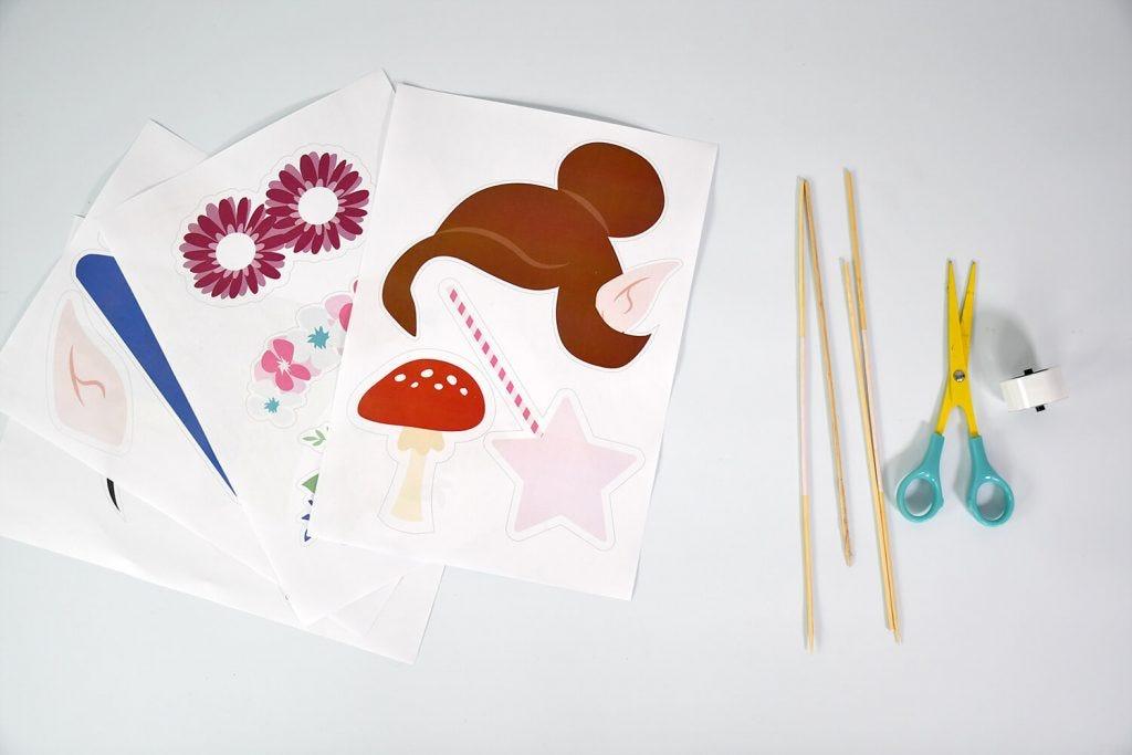 Per scattare delle simpatiche foto a tema fate e foreste alle feste di compleanno dei vostri bambini, fabbricate il vostro kit di accessori fotografici !