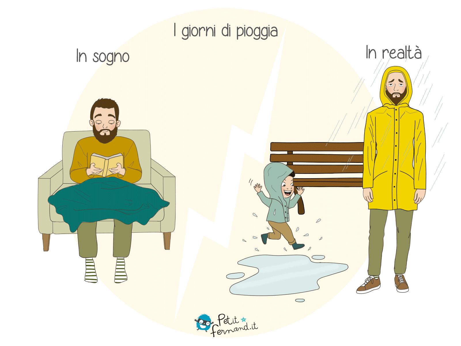 In quanto genitori, si sa che « maltempo » significa uscite sotto la pioggia e salti nelle pozzanghere!