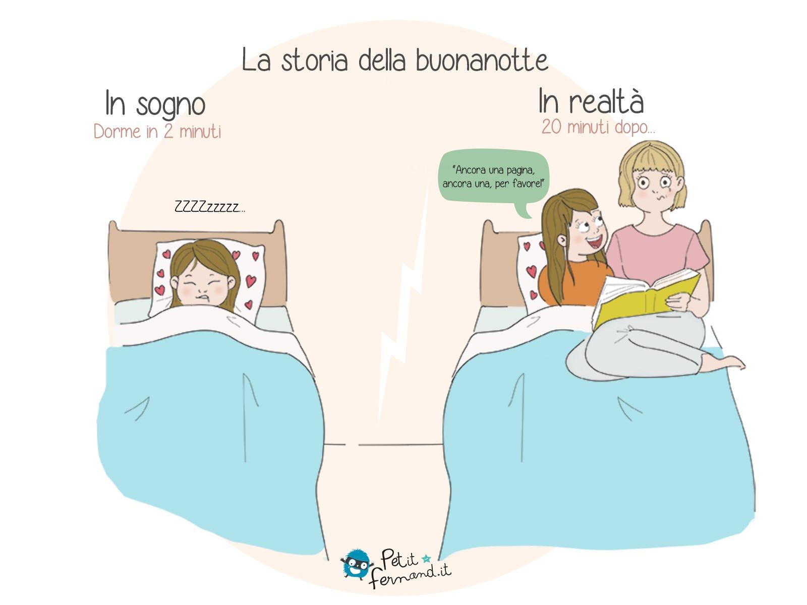 Tutti i genitori sanno che la famosa storia della buonanotte può durare davvero tanto!