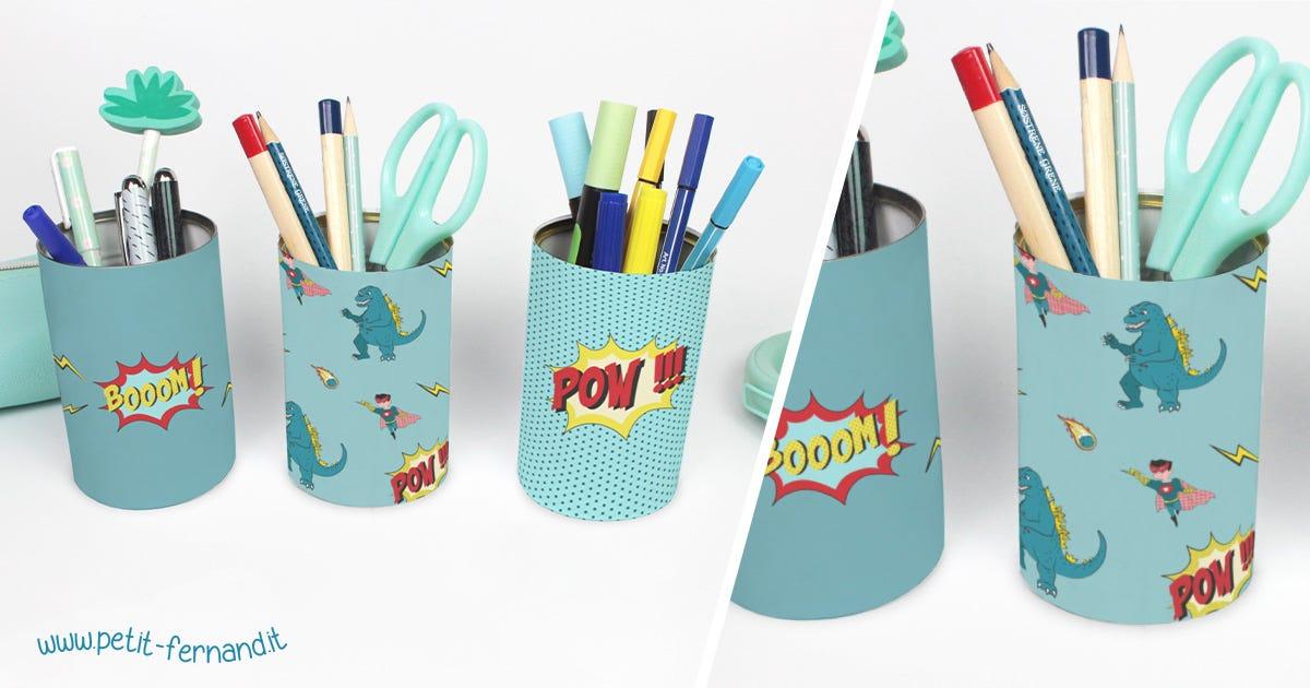 Questi portamatite saranno perfetti per riordinare il materiale per scrivere e disegnare dei vostri piccoli!