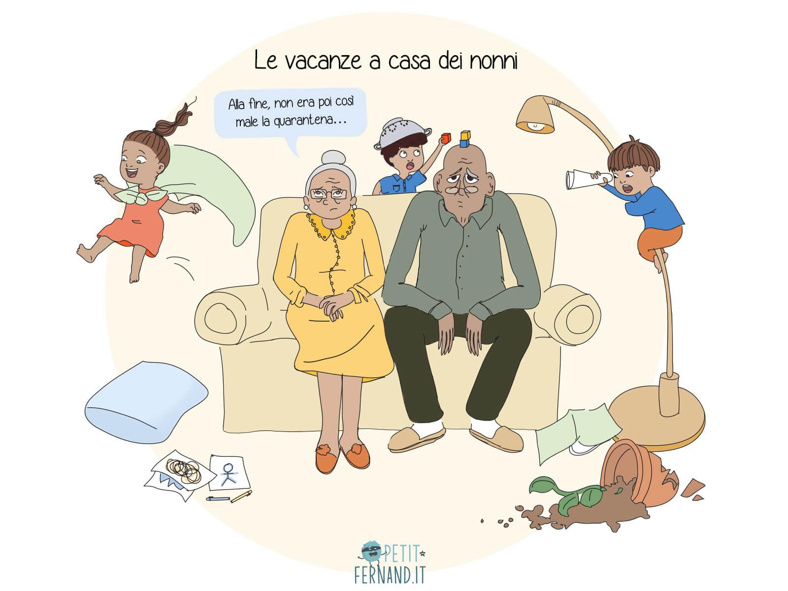 Lasciare i bambini con i nonni: un sogno, vero?