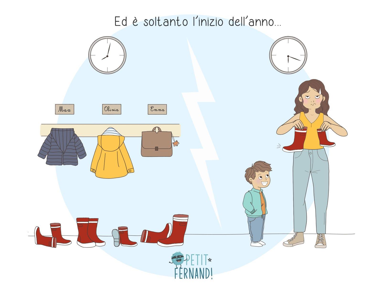 I bambini e le loro cose che vengono scambiate a scuola… Una bella storia!