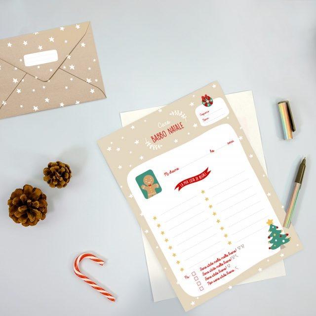 Lettera per Babbo Natale da scaricare