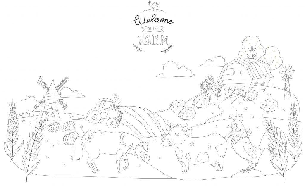 Fate scoprire ai vostri figli il mondo della fattoria coi nostri disegni da colorare e tutorial da scaricare gratuitamente!